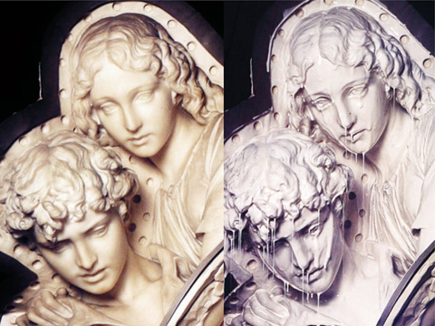 Silicone Rubber Moulding - 18th Centuary white marble sculpture