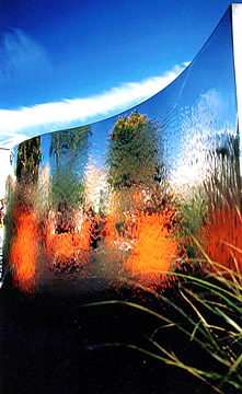 Wave Fountain - reflections of Chelsea Flower Show