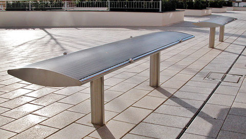 Arc Bench - 2m - stainless steel