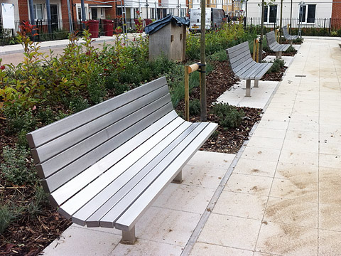 Parkland Bench - 2m - all stainless steel construction