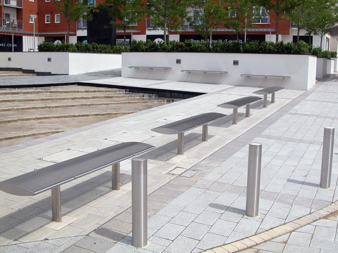 Stainless steel street furniture - Benches, Litter Bins & Bus Shelters